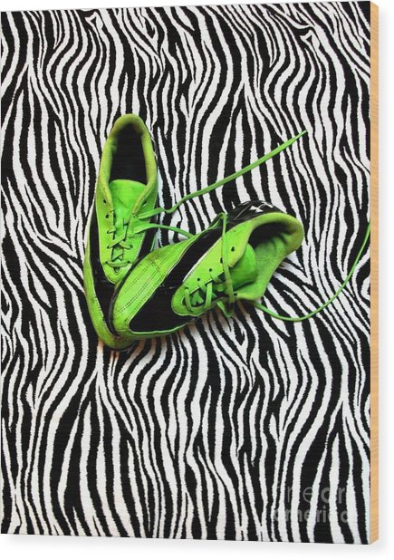 Soccer Girl Wood Print
