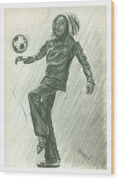 Soccer Time Wood Print