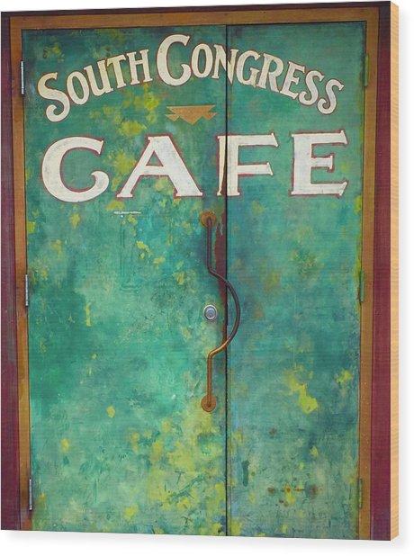 Soco Cafe Doors Wood Print