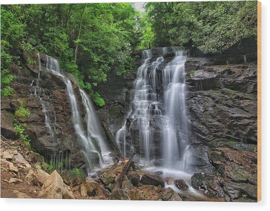 Soco Falls Wood Print