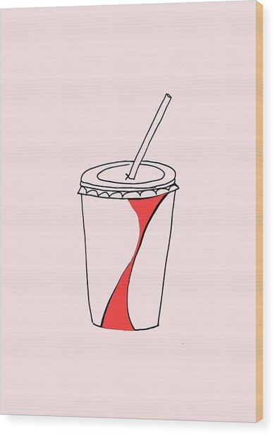 Soda Cup Wood Print