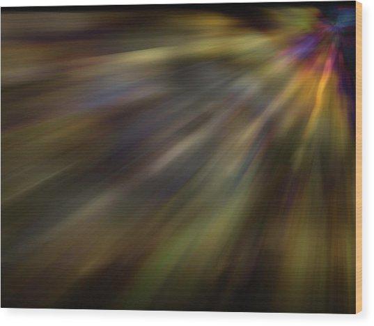 Soft Amber Blur Wood Print