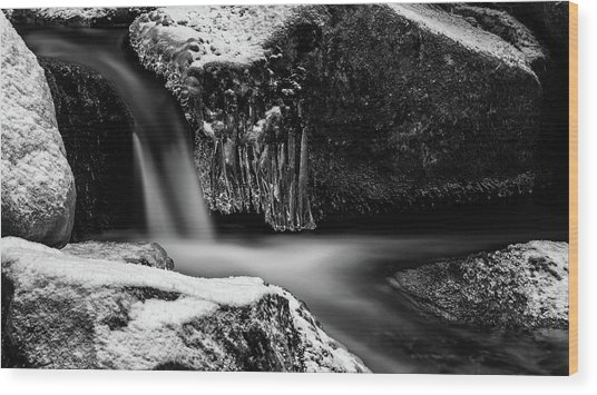 soft and sharp at the Bode, Harz Wood Print