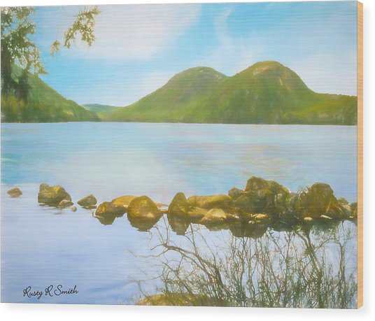 Soft Art Photograph Jordan Pond Acadia Nat. Park Maine Wood Print