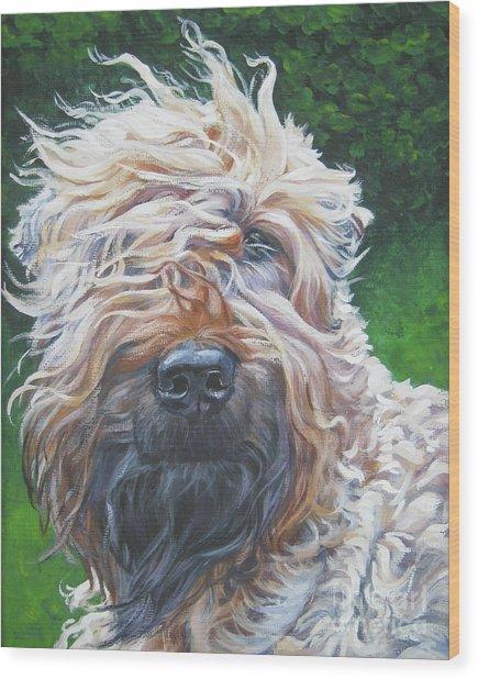 Soft Coated Wheaten Terrier Wood Print