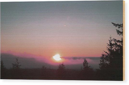 Soft Pink Fog Wood Print