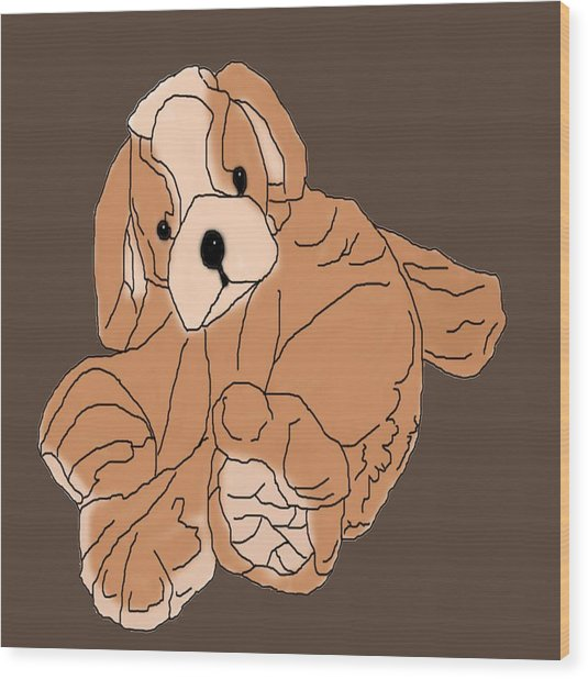 Wood Print featuring the digital art Soft Puppy by Jayvon Thomas