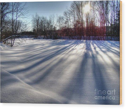 Soft Shadows Wood Print