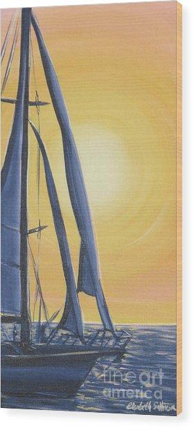 Softly Setting Sun Wood Print