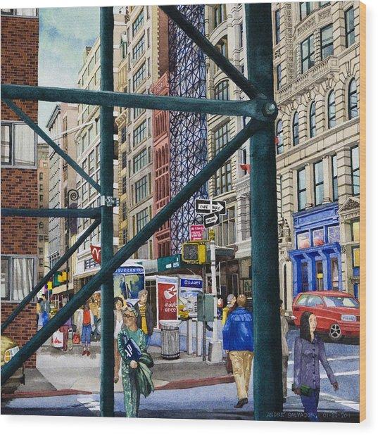 Soho Area New York Wood Print