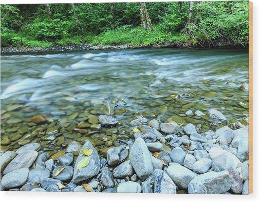 Sol Duc River In Summer Wood Print