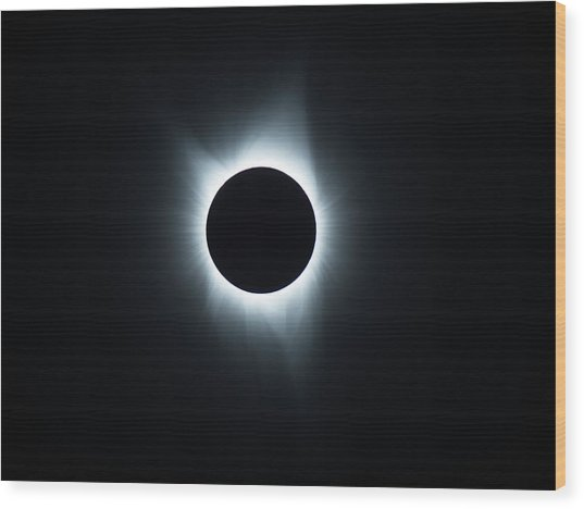 Solar Eclipse 2017 Wood Print