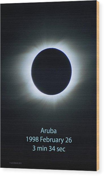 Solar Eclipse Aruba 1998 Wood Print