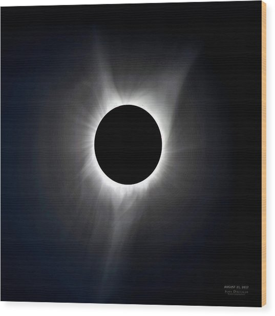 Solar Eclipse Totality Corona Wood Print