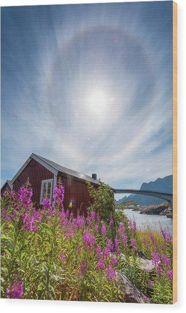 Solar Halo Above Rorbu Wood Print