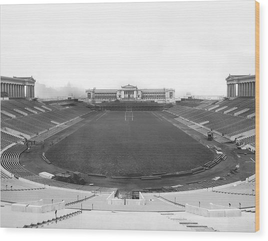 Soldier Field In Chicago Wood Print