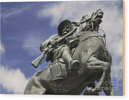 Soldier In The Boer War Wood Print