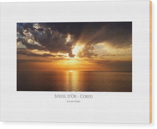 Soleil D'or - Corfu Wood Print