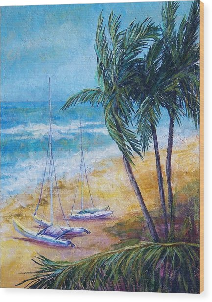 Soliman Bay Wood Print by Candy Mayer