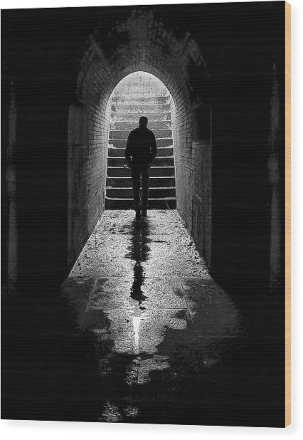 Solitude - Ascending To The Light Wood Print