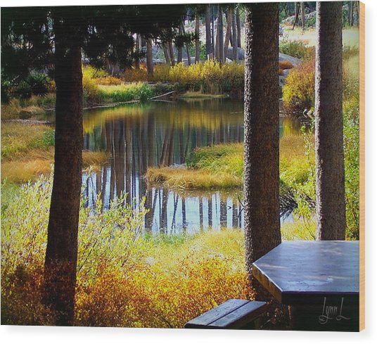 Solitude At Donner Pass Wood Print by S Lynn Lehman