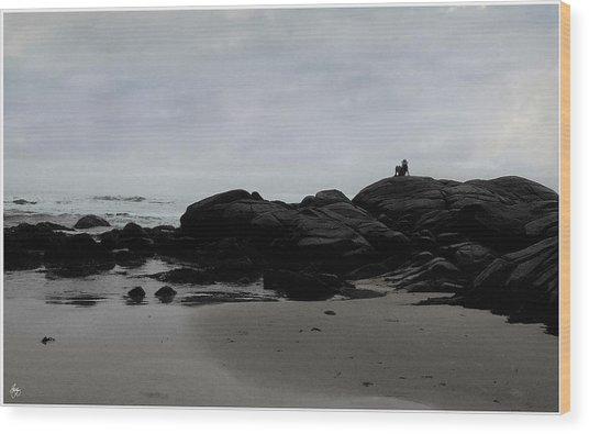Solitude At Goose Rocks Wood Print
