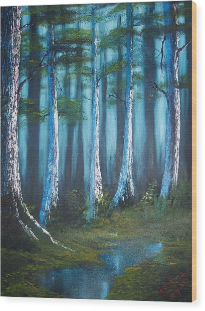 Solitude Wood Print by Keith Erskine