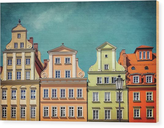 Solny Square Wroclaw Poland Wood Print