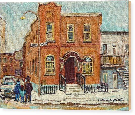 Solomons Temple Montreal Bagg Street Shul Wood Print