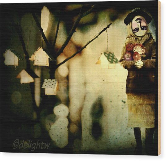 Wood Print featuring the digital art Some Days Are Like That by Delight Worthyn