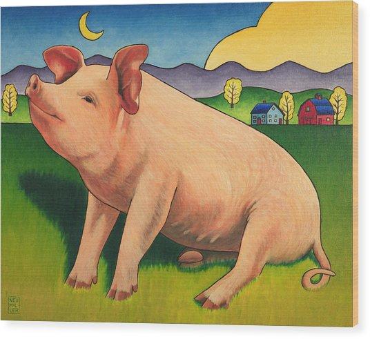 Some Pig Wood Print