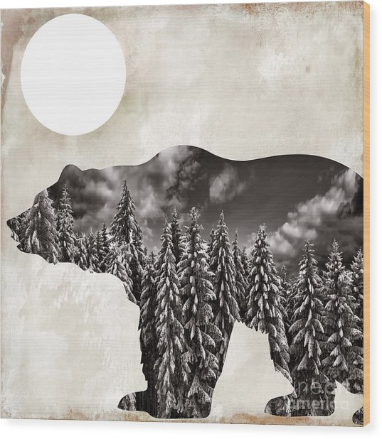 Something Wild Bear Wood Print