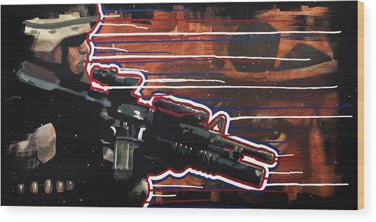 Son Of Sam Wood Print by Michael Figueroa