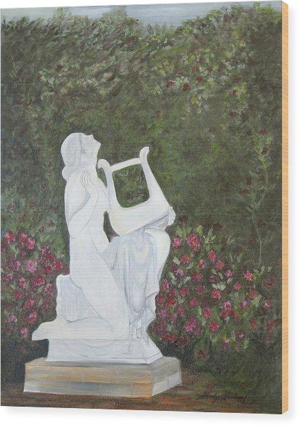 Sonata Wood Print by Shirley Lawing
