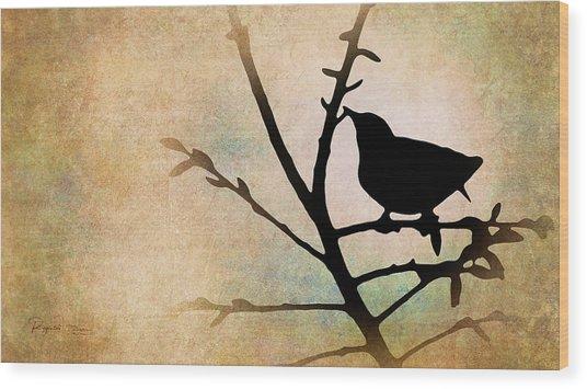 Song Bird Wood Print
