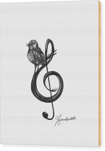 Songbird  Wood Print