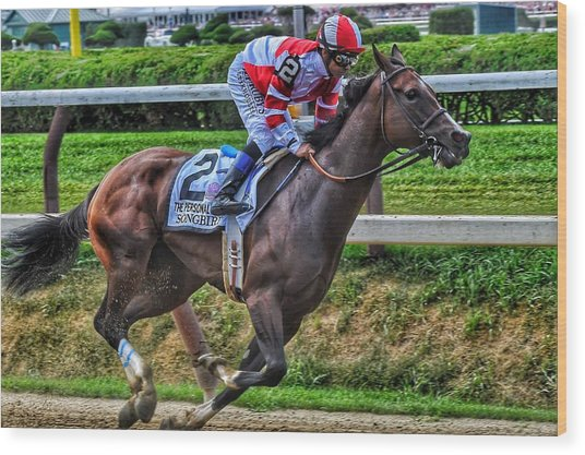 Songbird W Mike Smith Wood Print