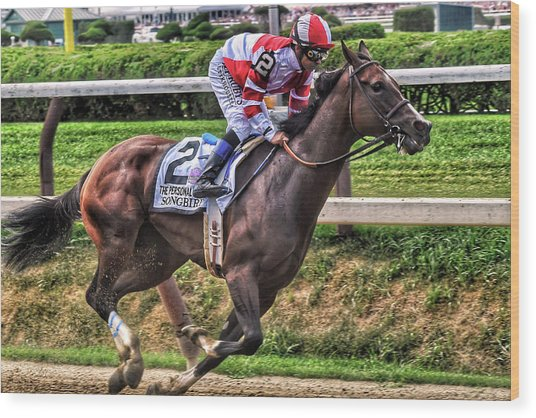 Songbird With Mike Smith Saratoga August 2017 Wood Print