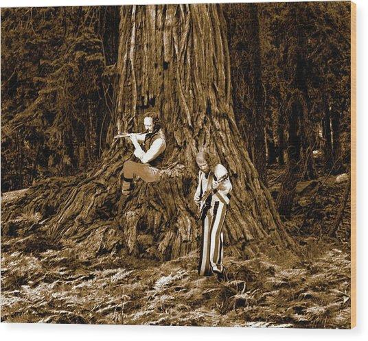 Songs In The Woods 2 Wood Print