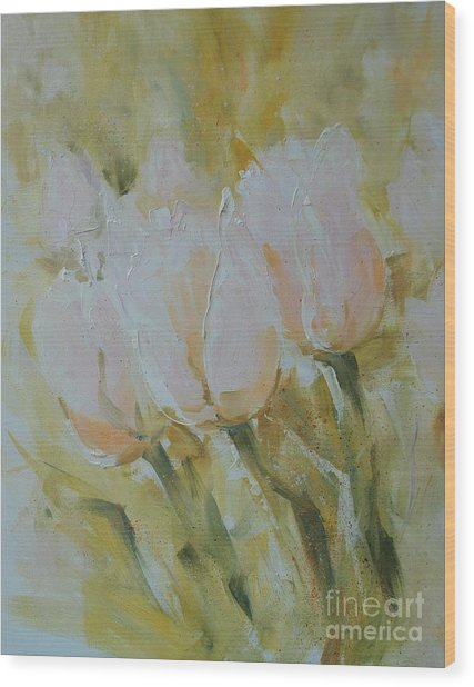 Sonnet To Tulips Wood Print