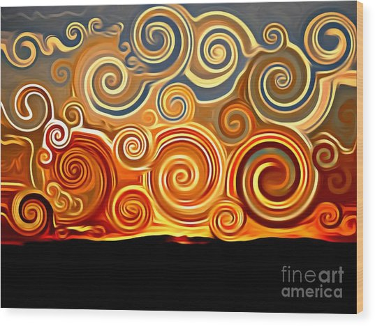 Sonora Sunrise  Wood Print