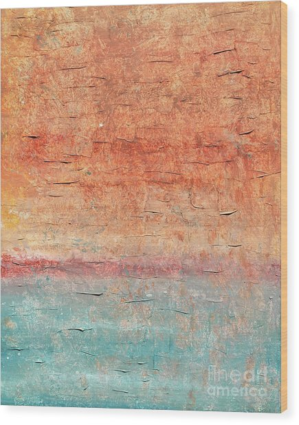 Sonoran Desert #1 Southwest Vertical Landscape Original Fine Art Acrylic On Canvas Wood Print