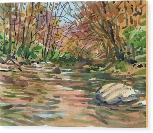 Sope Creek Eleven Wood Print by Donald Maier