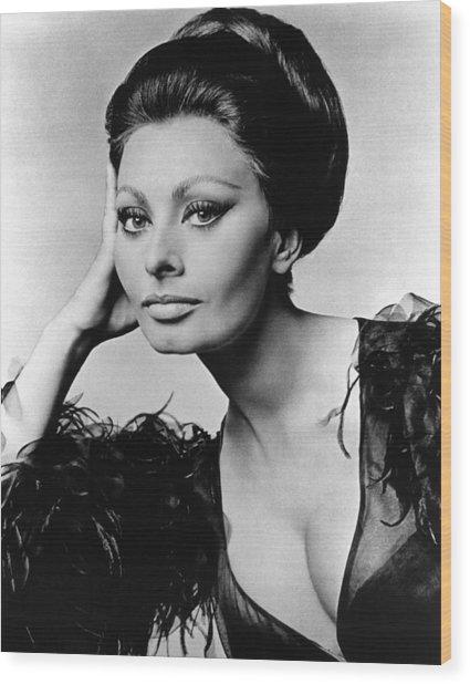 Sophia Loren, In Costume For Arabesque Wood Print by Everett
