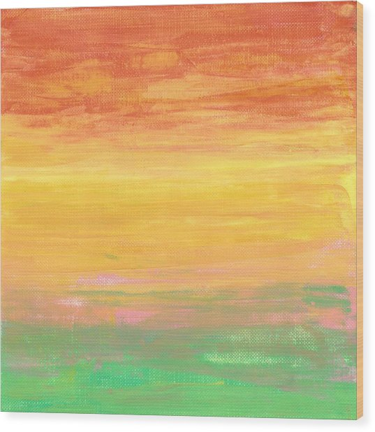 Sorbet Sunset Wood Print