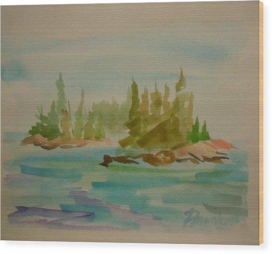 Sorrento Islands Wood Print by Francine Frank