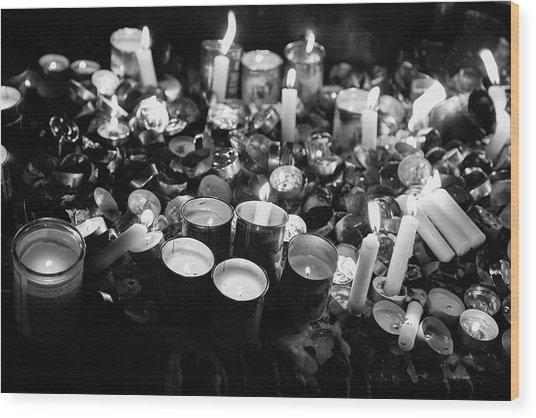 Soul Candles II Wood Print