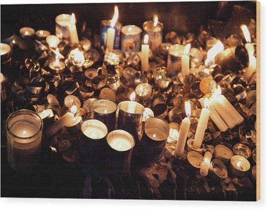 Soul Candles Wood Print