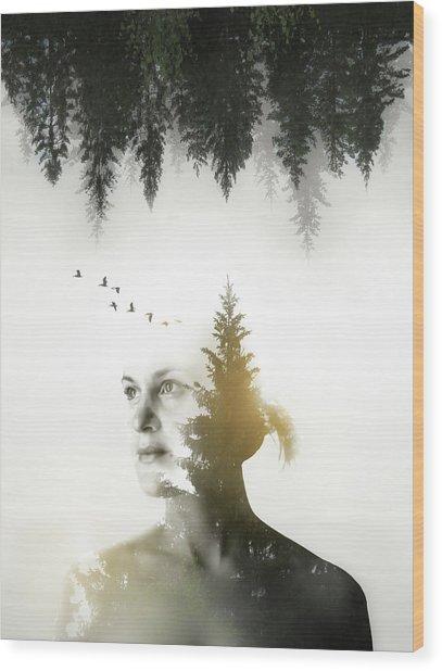Soul Of Nature Wood Print