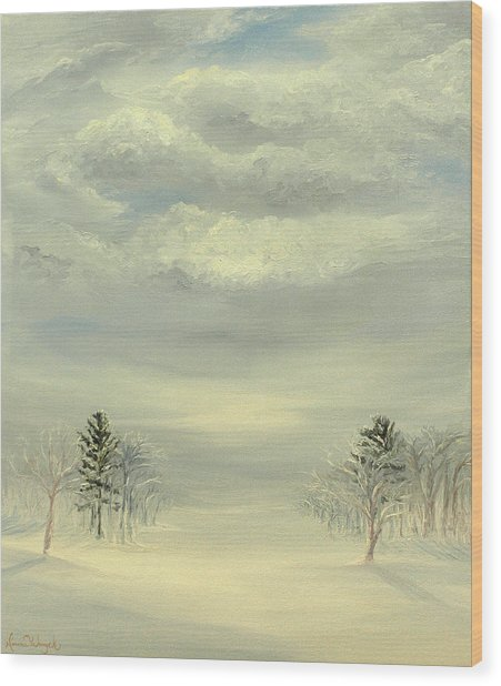 Soul Of Winter Wood Print by Deserie Waryck